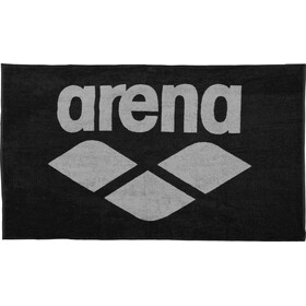 arena Pool Soft Handdoek, black-grey